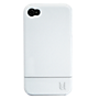 Uunique hard shell case for Apple iPhone 4/4S - gloss white