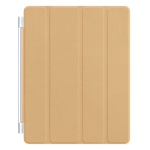 Apple Smart Cover leather for the new iPad/iPad 2 - Tan
