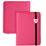Trendz Heart Button case for iPad 2/3 - Pink