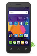Black Alcatel OneTouch Pixi 3 (4.5) Contract Mobile Phone on iD iD ShockProof £7.50 24 Month Contracts with 150 mins and 5000 Texts