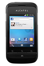 Black Alcatel OT 903 Contract Mobile Phone on TMobile Tmobile &pound10.50 24 Month Contracts with 100 mins and 500 Texts