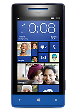 Blue Windows Phone 8S by HTC Contract Mobile Phone on 3 Three Ultimate Internet &pound18 24 Month Contracts with 100 mins and 5000 Texts