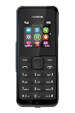Black Nokia 105 Sim Free Handset