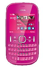 O2 Pay & Go Pink Nokia Asha 201