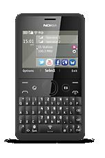 Black Nokia Asha 210 Sim Free Handset