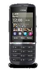 Black Nokia Asha 300 Sim Free Handset