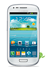 White Samsung Galaxy S3 Mini Contract Mobile Phone on EE EE Regular 4G £26.99 24 Month Contracts with 500 mins and Unlimited Texts  FREE Toshiba 32 LED TV
